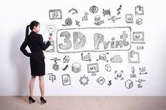 begrepp för skrivare 3D Royaltyfri Foto