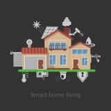 Begrepp för Smart hemvektor Stock Illustrationer