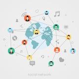 Begrepp för socialt nätverk Arkivbild