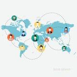 Begrepp för socialt nätverk vektor illustrationer