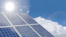 begrepp för solpaneler 3D lager videofilmer