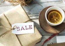 Begrepp för stämpel för rabatt för shopping för Sale befordran Arkivfoto