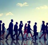 Begrepp för stad för pendlare för affärsfolk företags arkivfoton