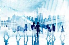 Begrepp för stadsliv för pendlare för affärsfolk upptaget Arkivfoton