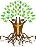 Begrepp för stamträd, naturligt liv, ecovänskapsmatch Arkivbilder