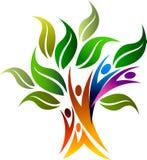 Begrepp för stamträd, naturligt liv, ecovänskapsmatch royaltyfri illustrationer