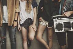 Begrepp för stil för ungdom för kultur för tonåringlivsstil tillfälligt royaltyfria foton