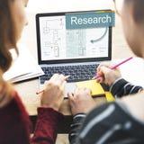 Begrepp för strategi för forskningaffärsanalys arkivbild