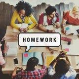 Begrepp för studie för läxautbildning akademiskt lärande arkivbilder
