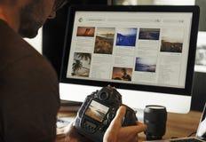 Begrepp för studio för design för ockupation för fotografiidéer idérikt royaltyfri fotografi