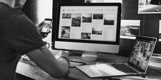 Begrepp för studio för design för ockupation för fotografiidéer idérikt royaltyfri foto