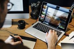 Begrepp för studio för design för ockupation för fotografiidéer idérikt royaltyfria foton