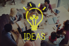 Begrepp för taktik för strategi för plan för idédesignmål royaltyfri foto