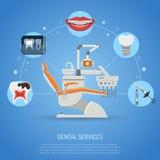 Begrepp för tand- service Royaltyfri Foto