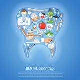Begrepp för tand- service Royaltyfri Bild