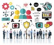 Begrepp för Team Share Support Trust Help teamworksamhörighetskänsla Arkivfoton