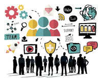 Begrepp för Team Share Support Trust Help teamworksamhörighetskänsla vektor illustrationer