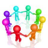 begrepp för teamwork 3d Arkivbild