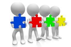 begrepp för teamwork 3d Arkivfoton