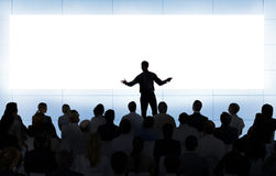 Begrepp för teamwork för affär för möteseminariumkonferens arkivbilder
