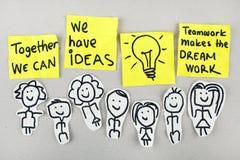 Begrepp för teamworkkreativitetidéer royaltyfri foto