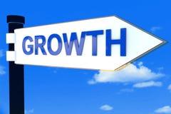 Begrepp för tecken för tillväxtvägriktning Arkivbilder