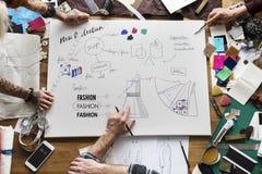 Begrepp för teckning för design för modekläder royaltyfri foto