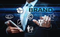 Begrepp för teknologi för affär för identitet för strategi för marknadsföring för märkesadvertizing arkivbild