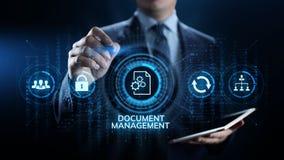 Begrepp för teknologi för affär för ledning för dokumentledningsystem digitalt högert arkivbilder