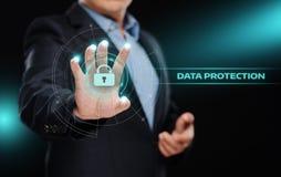 Begrepp för teknologi för internet för affär för avskildhet för säkerhet för Cyber för dataskydd Arkivfoto