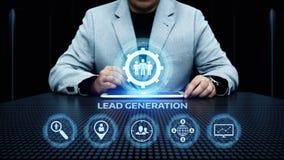 Begrepp för teknologi för internet för affär för advertizing för ledningsutvecklingsmarknadsföring arkivfoto