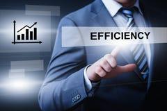 Begrepp för teknologi för internet för affär för effektivitetsimpovermentproduktivitet royaltyfri fotografi