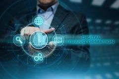 Begrepp för teknologi för internet för affär för omformningsmoderniseringinnovation Royaltyfri Bild