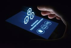 Begrepp för teknologi för internet för affär för omformningsmoderniseringinnovation royaltyfri fotografi