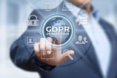 Begrepp för teknologi för internet för affär för reglering för skydd för allmänna data för GDPR arkivfoto