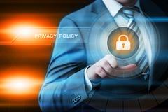 Begrepp för teknologi för internet för affär för säkerhet för Cyber för säkerhet för skydd för data för avskildhetspolitik royaltyfri foto