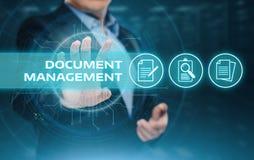 Begrepp för teknologi för internet för affär för system för dokumentledningdata Arkivfoto