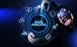 Begrepp för teknologi för internet för analytics för intelligens för affär för dataanalys arkivbild