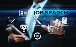 Begrepp för teknologi för internet för Job Search Human Resources Recruitment karriäraffär Arkivbild