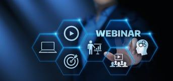Begrepp för teknologi för internet för Webinar E-lärande utbildningsaffär arkivbild