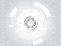 Begrepp för teknologi och för binär kod på vit bakgrund Vektor mig Royaltyfri Foto