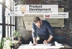 Begrepp för tillförsel för produktutvecklingproduktivitetseffektivitet arkivfoton
