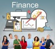 Begrepp för tillgångar för investering för finansvinstfinansiering royaltyfri foto