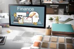 Begrepp för tillgångar för investering för finansvinstfinansiering arkivfoton