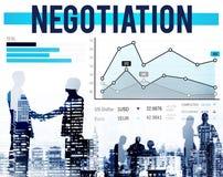 Begrepp för tillväxt för avtal för förhandlingfördelkompromiss Royaltyfria Bilder