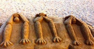 Begrepp för tre apor Arkivbilder