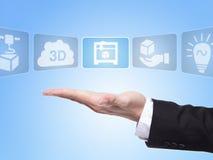 begrepp för tryck 3D Royaltyfria Bilder