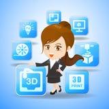begrepp för tryck 3D Royaltyfri Foto
