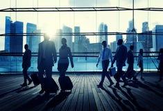 Begrepp för tur för Cityscape för pendlare för affärslopp företags royaltyfria bilder