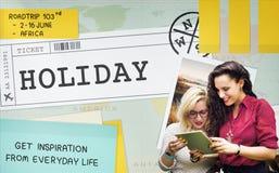 Begrepp för tur för lopp för resa för ferieavbrott arkivfoton